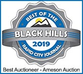 Arneson Auction Service - Voted Best Auctioneer of the Black Hills 2019