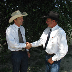 Dan Piroutek and Lonnie Arneson, Auctioneers